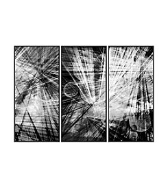 Abstrack Lines Triptych Framed Art