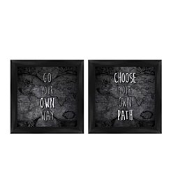 Your Own Way/Path Framed Art