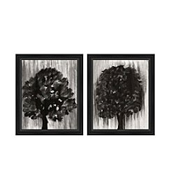 PTM Images Tree Silhouette Diptych Framed Art