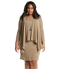 R&M Richards® Plus Size Layered Look Jacket Dress