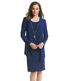 R&M Richards® Layered Removable Necklace Jacket Dress