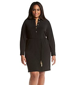 Calvin Klein Plus Size Long Sleeve Dress