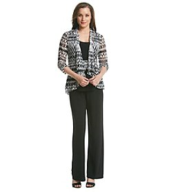 Perceptions Three Piece Pant Suit Set