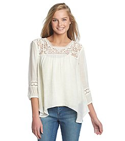 Jolt® Lace Peasant Top