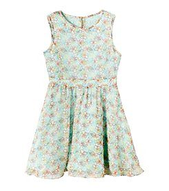 DKNY® Girls' 7-16 Diana Printed Dress