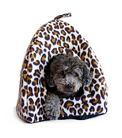 DanaZoo Animal Print Closed Hooded Pet Bed