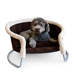 DanaZoo Chocolate Brown Faux Fur Pet Lounger