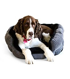 DanaZoo Corduroy Bottom Fleece Pet Bed