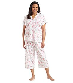 KN Karen Neuburger Plus Size Floral Girlfriend Capri Pajama Set