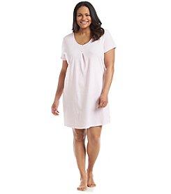 KN Karen Neuburger Plus Size Gigham Print Sleepshirt