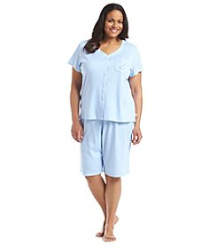 KN Karen Neuburger Plus Size Dot Girlfriend Capri Pajama Set