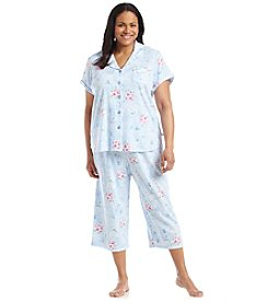 KN Karen Neuburger Floral Girlfriend Capri Pajama Set