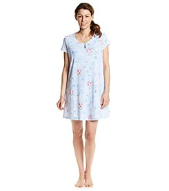 KN Karen Neuburger Blue Powder Floral Sleepshirt