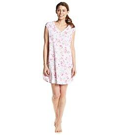 KN Karen Neuburger Pink Floral Sleepshirt
