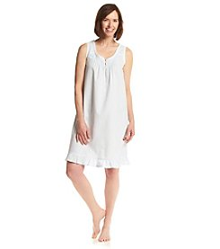 Miss Elaine® Woven Night Gown