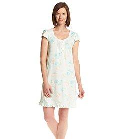 Miss Elaine® Floral Print Short Sleep Gown