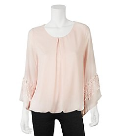 A. Byer Bubble Hem Top