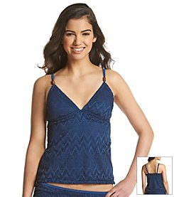 J. Valdi® Sheer Beauty Crotchet Tankini