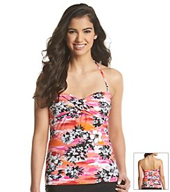 J. Valdi® Ka-Bloom Twist Bandini Swim Top