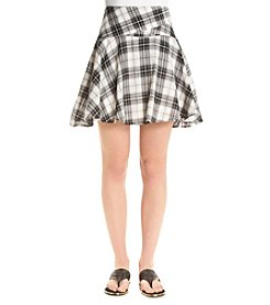 BCBGeneration® Flippy Plaid Skirt