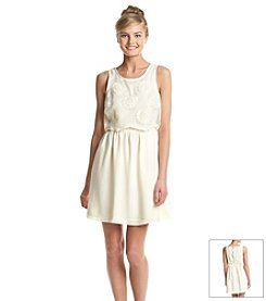 Kensie® Floral Embroidered Organza Dress