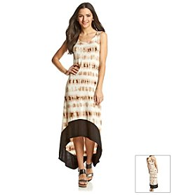 Kensie® Tie Dye Grid Maxi Dress