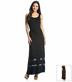 Kensie® Lace Trim Maxi Dress