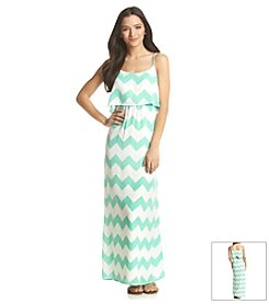 Sequin Hearts® Chevron Popover Maxi Dress