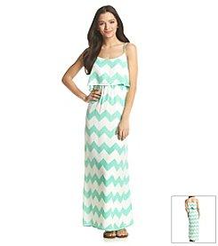 Sequin Hearts® Chevron Popover Maxi Dress
