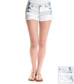 Hippie Laundry Embroidered Front Jean Shorts