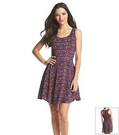 Be Bop Geo Print Tank Dress