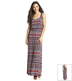 Trixxi® Geo Print Blouson Maxi Dress
