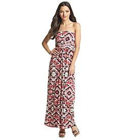 Trixxi® Geo Print Maxi Dress