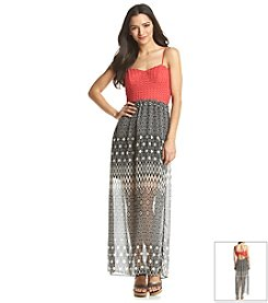 Trixxi® Crochet Top Maxi Dress