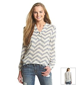 Blu Pepper™ Chevron Printed Shirt