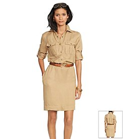 Lauren Ralph Lauren® Collared Drawcord Shirtdress