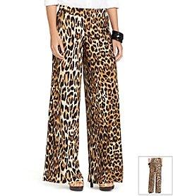Lauren Ralph Lauren® Leopard-Print Wide-Leg Pants