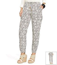 Lauren Ralph Lauren® Drawcord Paisley Cargo Pants