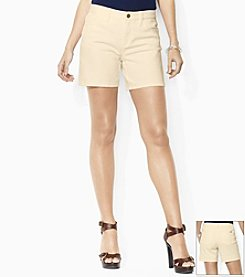 Lauren Ralph Lauren® Stretch Sateen Shorts