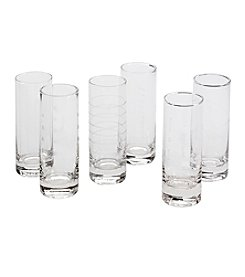 LivingQuarters Compass 6-Pk. Shot Glasses
