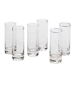LivingQuarters Compass 6-Pk. Shot Glasses