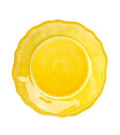 LivingQuarters Melamine Yellow Salad Plate