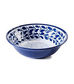 LivingQuarters Melamine Blue Rooster Cereal Bowl