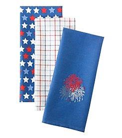 LivingQuarters Fireworks 3-pk. Kitchen Towels