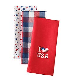 LivingQuarters USA 3-pk. Kitchen Towels