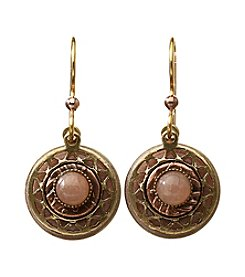 Silver Forest® Two-Tone Pink Aventurine and Round Earrings