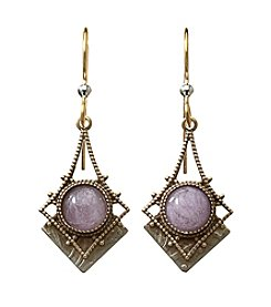 Silver Forest® Two-Tone Ornate Filigree with Amethyst Earrings