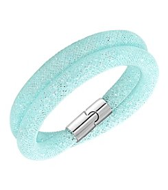 Swarovski® Stardust Blue Double Bracelet