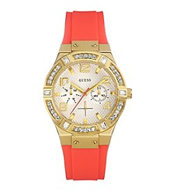 Guess Women's Goldtone Jet Set Sparkle Watch