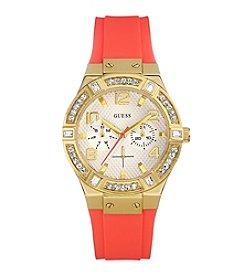 GUESS Women's Goldtone Jet Set Sparkle Watch